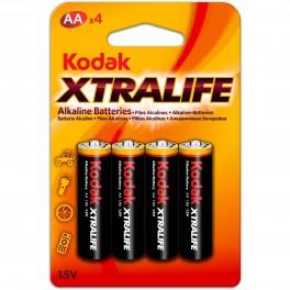 Pilas Kodak Alcalinas XtraLife AA (LR06) Pack 4 (2