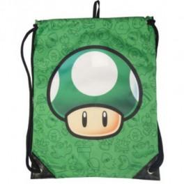 Bolsa Saco Nintendo Mario Seta Verde