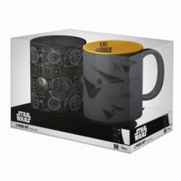 Set 2 Tazas Star Wars Death Star + Tie Striker