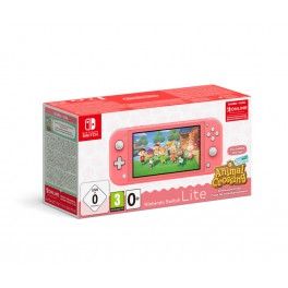 Consola Switch Lite Coral + AC New Horizons